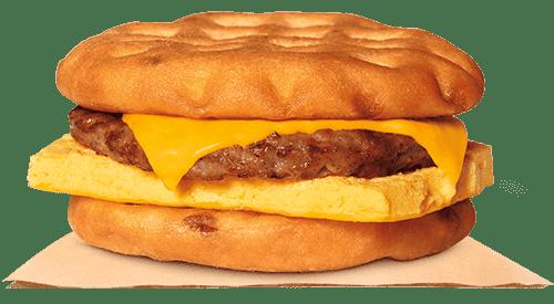 Burger King Waffle Breakfast Sandwich