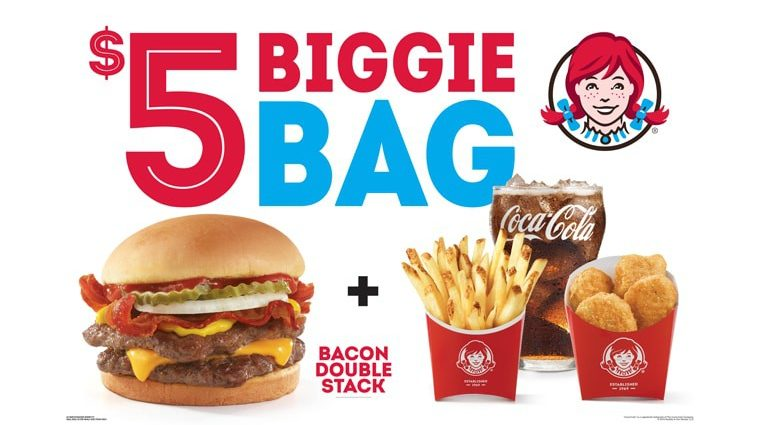 Wendys Biggie Bag Meal Deal September 2019