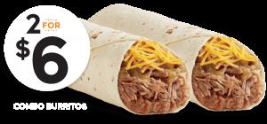 Del Taco Carnitas Combo Burritos